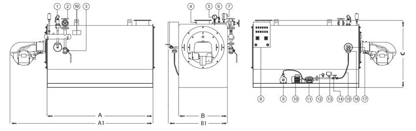 Gerador de Vapor Instantâneo ICA-GVI Horizontal