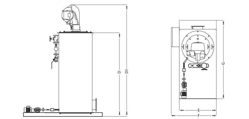 Gerador de Vapor Instantâneo ICA-GVI Vertical